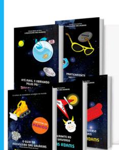 [Submarino] Kit Livros - Coleção O Guia do Mochileiro das Galáxias - Edição Econômica (5 Volumes) por R$ 22