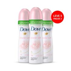 [Ikesaki] Kit com 3 Desodorantes Dove Aerosol Comprimido Powder Soft 54g por R$23