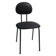 [Mobly] Cadeira de Escritório Palito Secretária Fixa Preta por R$ 20