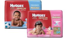 [Shoptime] Kit 3 Fraldas Huggies Supreme Care Menino/Menina  por R$128