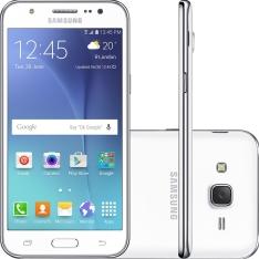 "[Shoptime]Smartphone Samsung Galaxy J5 Duos Dual Chip Android 5.1 Tela 5"" 16GB 4G Wi-Fi Câmera 13MP - Branco"