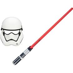 [Submarino]Sabre Básico Star Wars EP VII Vermelho + Máscara Star Wars EP VII First Order Stormtrooper - R$ 70