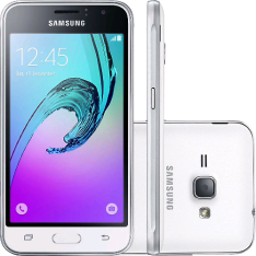 "[Shoptime] Smartphone Samsung Galaxy J1 2016 Dual Chip Android 5.1 Tela 4,5"" 8GB 3G Wi-Fi Câmera 5MP - Branco - R$468"