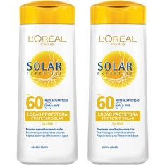 [Sou Barato] Kit 2 Protetores Solares Expertise Loção FPS 60 120ml - R$ 27