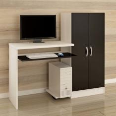 [EXTRA] Mesa para Computador ou Escritório Barcellona Irlanda com Armário - R$170
