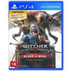 Pacote de Expansão The Witcher 3: Wild Hunt Blood & Wine para PS4 - R$47,40