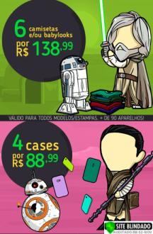 6 camisetas nerds/geeks por R$139