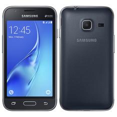 "Smartphone Samsung Galaxy J1 Mini, Dual Chip, Preto, Tela 4"", 3G+WiFi, Android 5.1, 5MP, 8GB POR R$371"