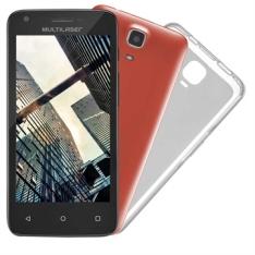 "Smartphone Multilaser MS45S, Dual Chip, Preto, Tela 4.5"", 3G+WiFi, Android 5.1, 5MP, 8GB por R$352"