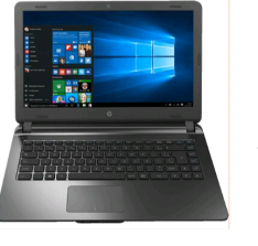 "Notebook HP 14-ap020 Intel Core i3 4GB 500GB Tela LED 14"" W10 Chumbo por R$1400"
