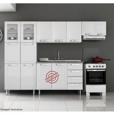 Cozinha Itanew 11 portas de aço Branco - Itatiaia Por R$650