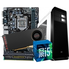 T-Gamer Intel i5 6500 3.6Ghz 6ª Geração / Radeon RX 480 8GB / 8GB DDR3 / HD 1TB / Gab Aerocool Aero 500 Branco