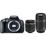 Câmera Canon T5 + Lente 18-55 + Lente 55-250 + Cartão 8GB - R$1800