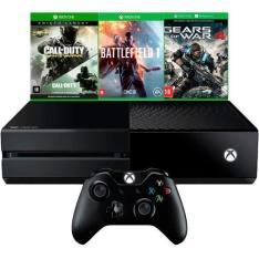 [Submarino] Console Xbox One 500GB + 3 Jogos + Controle Sem Fio - R$ 1.600
