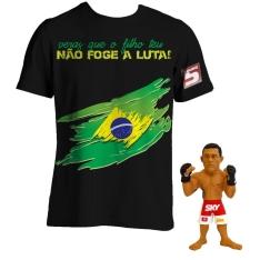 Boneco UFC Victor Belfort + Camiseta Round 5 - Preta por R$ 32