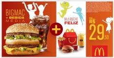 BigMac + Bebida Média + Mc Lanche Feliz por R$ 30