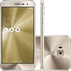 """Smartphone Asus Zenfone 3 Dual Chip Android 6 Tela 5.2"""" 32GB 4G Câmera 16MP Dourado por R$1439"""