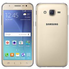 "Smartphone Samsung Galaxy J5 Dual Chip, Dourado, Tela 5"", 4G+WiFi, Android 5.0, 13MP, 16GB | R$660,50"
