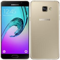 "Smartphone Samsung Galaxy A5 2016, Dual Chip, Dourado, Tela 5.2"", 4G+WiFi+NFC, Android 5.1, 13MP, 16GB | R$1227"