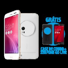 Zenfone Zoom 4GB/128GB Branco + Capa Preta + Zenfone Go Live Vermelho