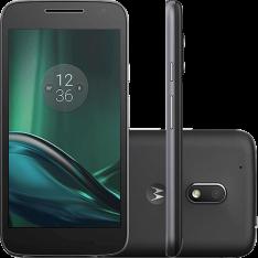 Smartphone Moto G 4 Play Dual Chip Android 6.0 Tela 5'' 16GB Câmera 8MP - Preto por R$ 692