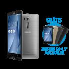 """Zenfone 2 Laser 6"""" 2GB/32GB Prata + Zenfone Go 4.5"""" Multicolor (preto, prata e dourado) por R$ 999"""