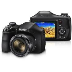 """Câmera Sony Cyber-shot DSC-H300 20.1 MP, Zoom de 35x, Visor LCD de 3.0"""", Foto Panorâmica 360º , Vídeos em HD e Cartão de Memória de 8GB"""