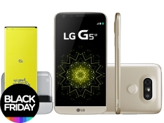 "Smartphone LG G5 SE 32GB Dourado 4G Câm. - 16MP + Selfie 8MP Flash Tela 5.3"" QHD Octa Core - R$1.620"