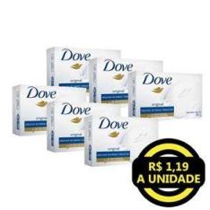 [Extra] Kit Sabonete em Barra Dove Original Hidratante 90g - 6 Unidades - R$7,14