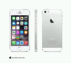 iPhone 5s Silver, com Tela de 4, 4G, 16 GB e Camera de 8 MP - ME433BR/A por R$ 1390