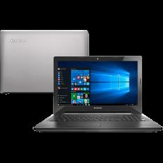 """Notebook Lenovo G50-80 Intel Core i5 8GB (2GB de Memória Dedicada) 1TB Tela LED 15,6"""" Windows 10 Bluetooth - Prata"""