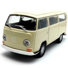 Carrinho Welly 72 Volkswagen Bus T2 Escala 1:34 Dmc2423 Bege