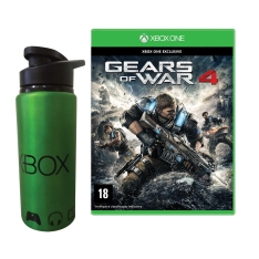 Jogo Gears of War 4 Xbox One + Squeeze de Metal Microsoft Xbox por R$ 90