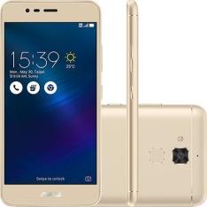 """[SUBMARINO] Smartphone Asus Zenfone 3 Max Dual Chip Android 6 Tela 5.2"""" 16GB 4G Câmera 13MP - Dourado"""