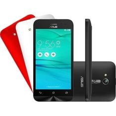 "Smartphone ASUS Zenfone Go Dual Chip Android 5.1 Tela 4.5"" por R$ 359,10"