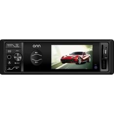 """Reprodutor Multimídia ONN com Tela LCD 3"""" Entradas USB/Aux/SD e Controle Remoto - Saída RCA - R$99"""
