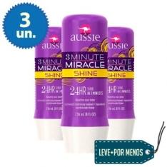 3 Tratamentos Aussie Shine de 3 Minutes Miracle 236ml por R$ 51