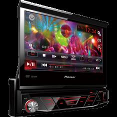 DVD Player Automotivo Pioneer AVH-3880DVD com Tela 7'' USB Retrátil Touch Screen - R$793