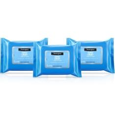 Kit com 3 Pacotes de Lenços Demaquilantes Neutrogena 25 unidades cada  - R$38