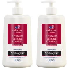 Kit com 2 Hidratantes Corporais Intensivo Neutrogena Norwegian 500ml cada