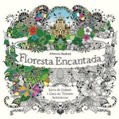 Livro - Floresta Encantada: Livro de Colorir e Caça ao Tesouro Antiestresse por R$ 4,90