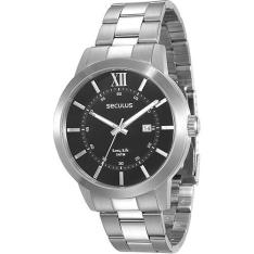 Relógio Masculino Seculus Analógico com Calendário Fashion 28693g0svna1 - R$ 98,99