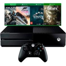 Console Xbox One 500GB + 4 Jogos + Controle Sem Fio