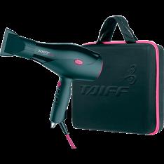 [1x Cartão Submarino] Kit Secador de Cabelos Taiff Saffira Ion 2100W com Maleta - Preto/Pink