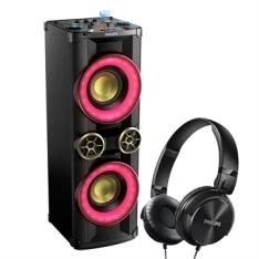 Mini System Nitro NX6 NTX600X/78 CD 2 USB Bluetooth NFC Função DJ + Fone De Ouvido 2200W RMS - Philips | R$1581