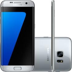 "Smartphone Samsung Galaxy S7 Edge Android 6.0 Tela 5.5"" 32GB 4G Câmera 12MP - Prata - R$2398"