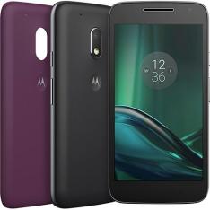 Smartphone Moto G 4 Play DTV Colors Dual Chip Android 6.0 Tela 5'' 16GB Câmera 8MP - Preto - R$639