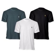 Kit 3 Camisetas Básicas - Polo Match por R$80