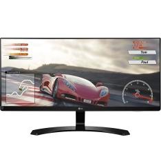 Monitor LG 29 Full HD IPS LED UltraWide 21:9 HDMI Preta - 29UM68-P - R$1.149
