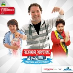 Sábado 17/12 17h00: S - Stand Up com Alexandre Porpetone - La Pergunta - Grátis